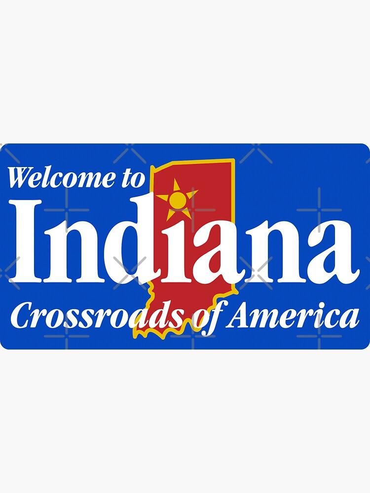 Bienvenido a Indiana Road Sign de worldofsigns