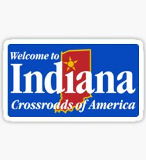 Welcome to Indiana Road Sign Sticker