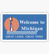 Welcome to Michigan, Road Sign Sticker