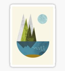 Earth, geometric print Sticker