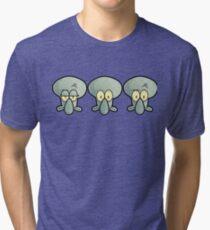 Three Times Squidward - Spongebob Tri-blend T-Shirt