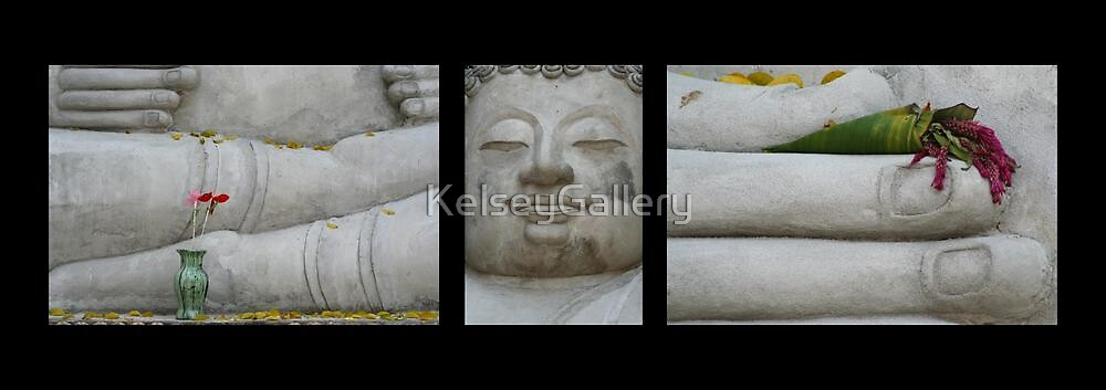 Fall Buddha on Black by KelseyGallery
