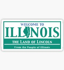 Welcome to Illinois Road Sign Sticker