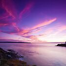 Godrevy - Red Sky by Billy Hodgkins