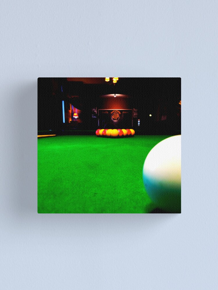 Alternate view of Playing pool Canvas Print