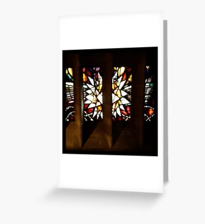 Stained Glass, Coventry Cathedral Greeting Card