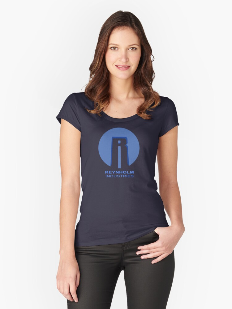 Reynholm Industries (dark apparel) Women's Fitted Scoop T-Shirt Front