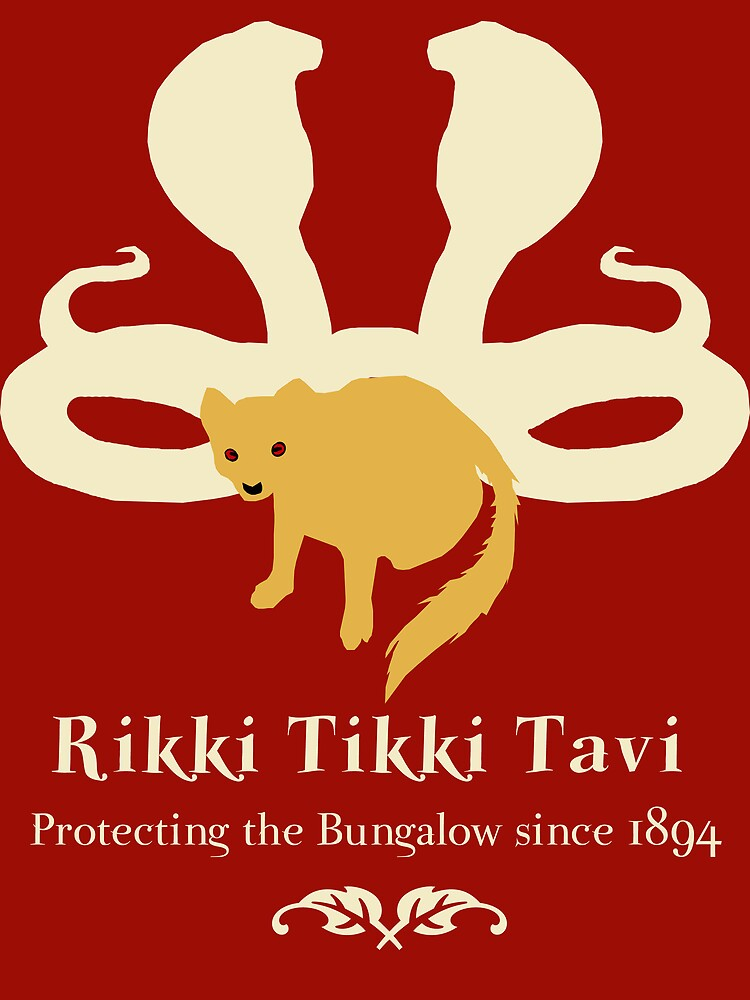Rikki Tikki Tavi Unisex T Shirt By Sorakaji