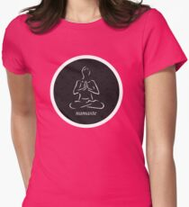 Yoga Namaste Calmness (White) Womens Fitted T-Shirt