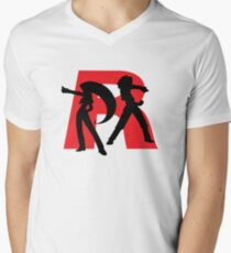 Team Rocket Line art Men's V-Neck T-Shirt