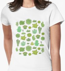 Succulents Women's Fitted T-Shirt