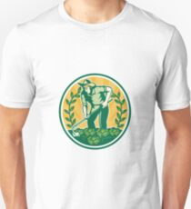 Farmer Gardener With Garden Hoe Cabbage T-Shirt