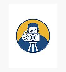 Photographer With Camera Retro Photographic Print