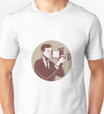 Photographer Shooting Video Camera Retro Unisex T-Shirt