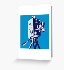Vintage Film Movie Camera Retro Greeting Card