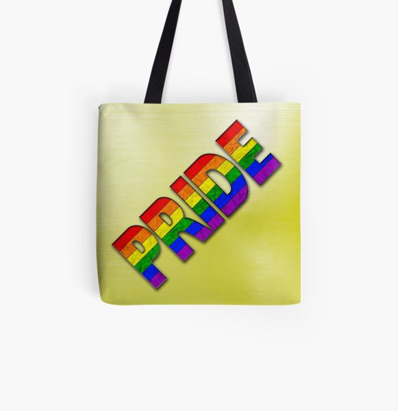 Rainbow PRIDE - Yellow All Over Print Tote Bag