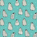 Hand-drawn Penguins by Zoe Lathey