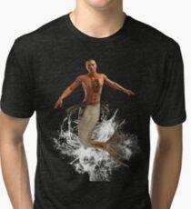 Native Merman Bursting from Water Tri-blend T-Shirt