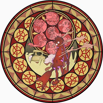 Fooly Cooly (FLCL) Stained Glass by twilightphe0nix