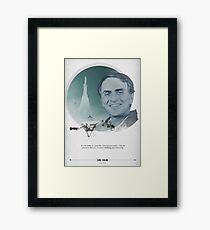 Carl Sagan Poster Framed Print