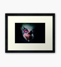 I dare you to laugh at me again Framed Print