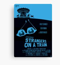 Alfred Hitchcock's Strangers On A Train Canvas Print