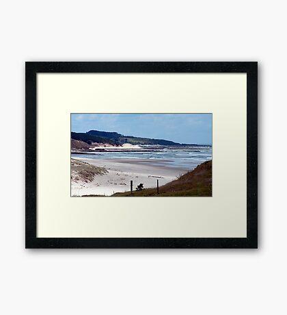 Down the beach - northland NZ Framed Print