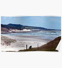 Down the beach - northland NZ Poster