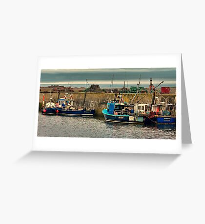 The Harbour Seahouses Greeting Card
