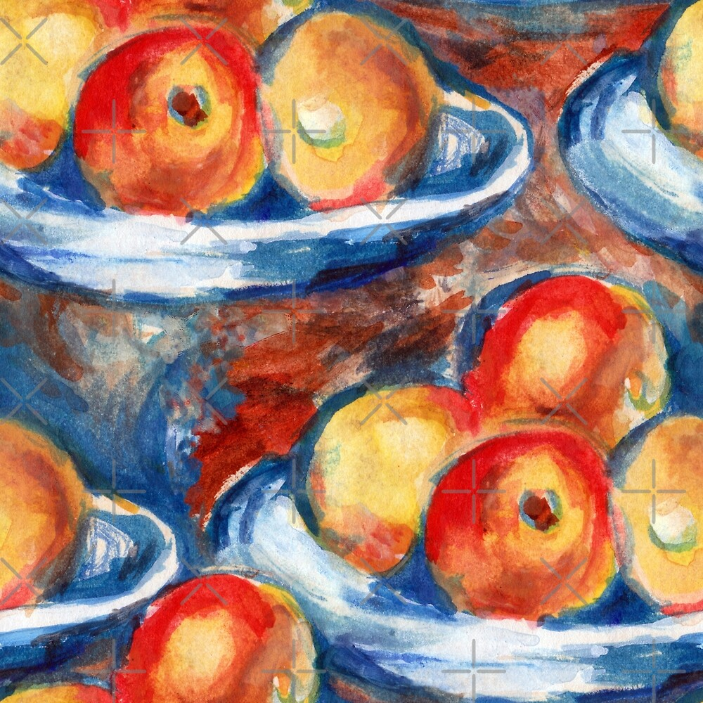 Apples Inspired by Cézanne by SUCHDESIGN