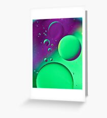 Bright Green & Purple Bubble Mix-iPhone Case Greeting Card