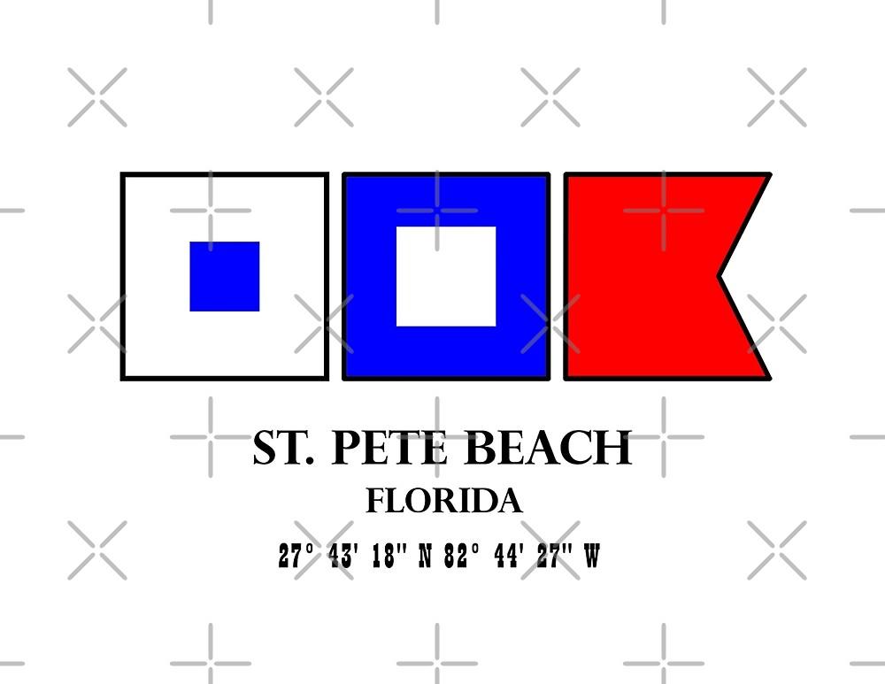 St Pete Beach Nautical Flag Saint Petersburg by MyHandmadeSigns