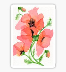 Poppy Sticker