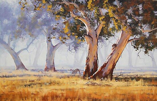 Kangaroo Grazing by Graham Gercken