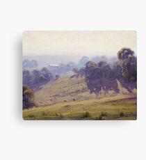 Hazy Summer Morning, Cottles Bridge - Vic Canvas Print