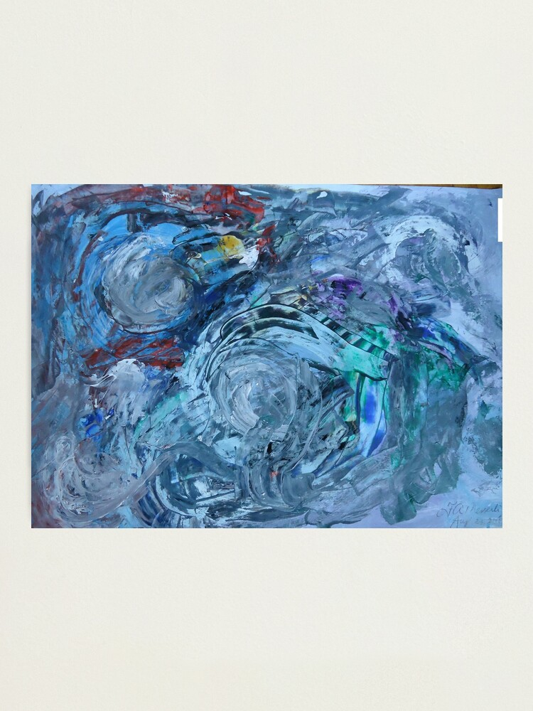 Alternate view of abstract painting Photographic Print