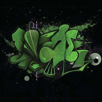 Graffiti Cloud 'Green' by Shing