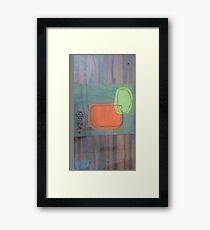 Abstract, Orange and Green Framed Print