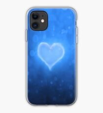 Abstract blue heart stylish iphone case iPhone Case