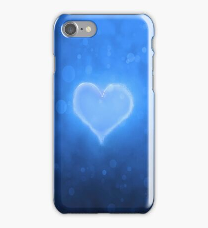 Abstract blue heart stylish iphone case iPhone Case/Skin
