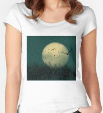 Winter night Women's Fitted Scoop T-Shirt