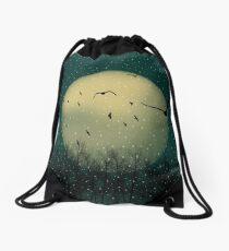 Winter night Drawstring Bag