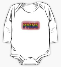 Rainbow PRIDE - Red Long Sleeve Baby One-Piece