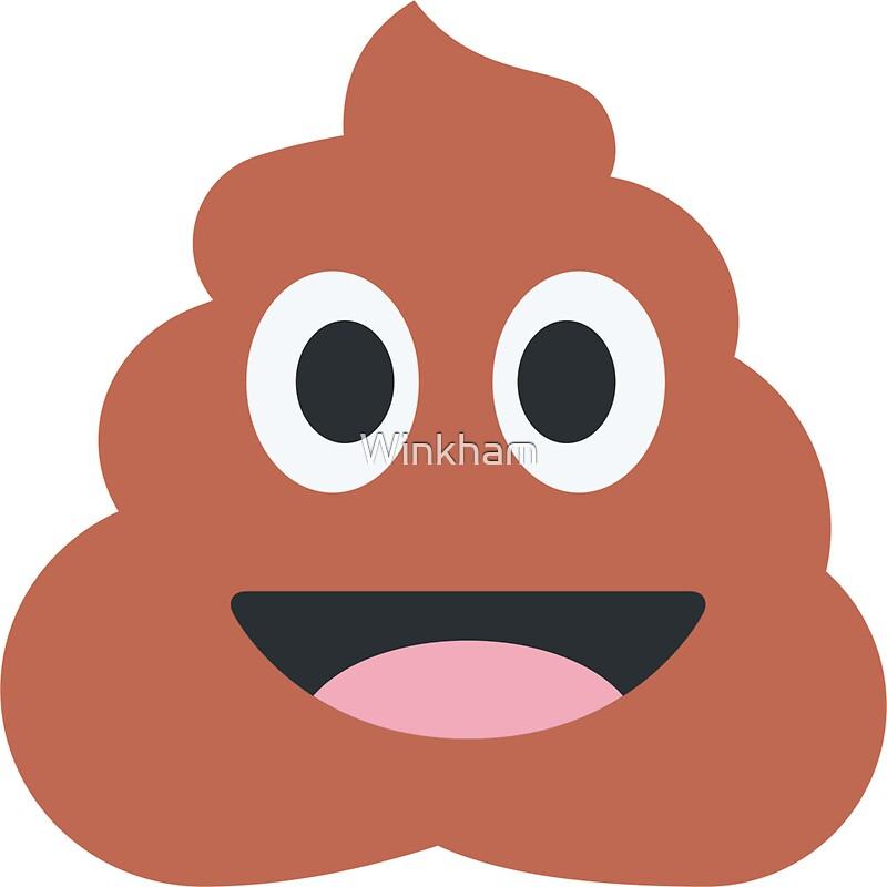 Smiling pile of poop emoji by winkham