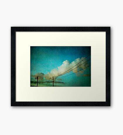Late Evening Sky Framed Print