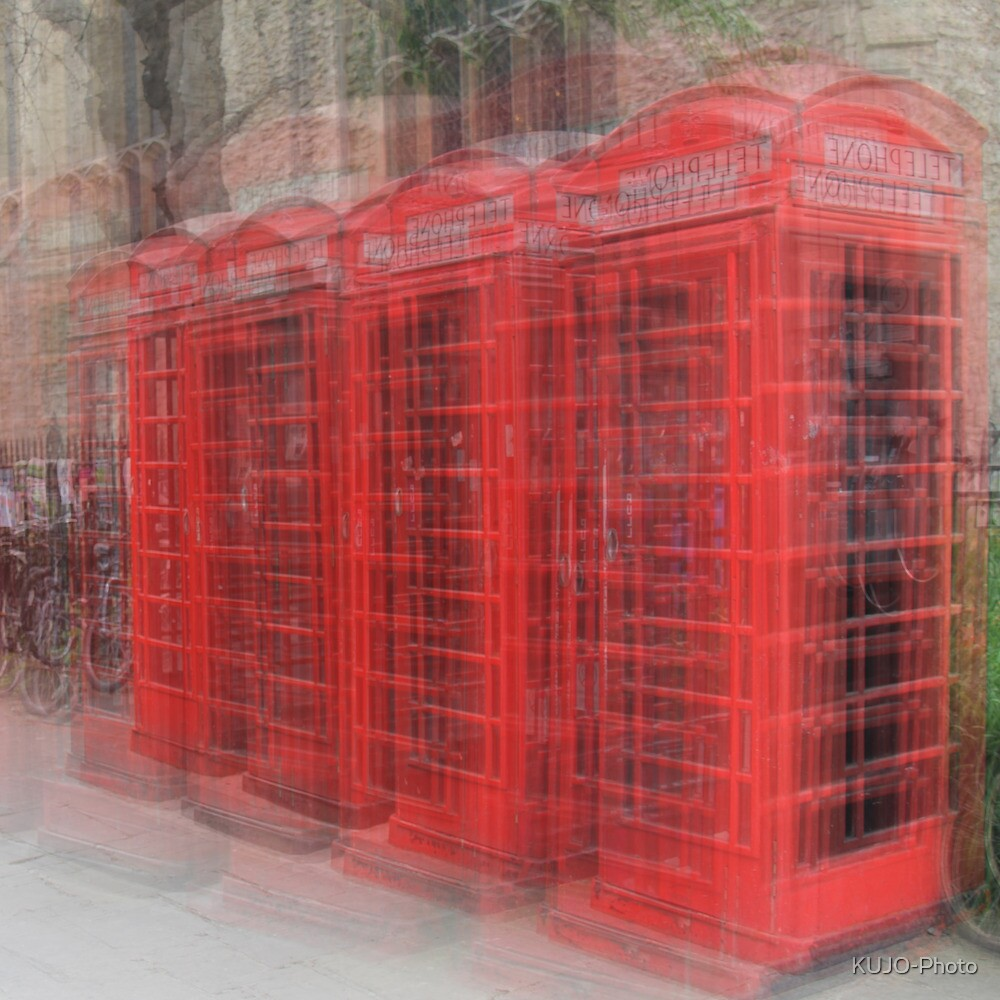 Red Phone Boxes, Cambridge by KUJO-Photo