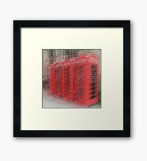 Red Phone Boxes, Cambridge Framed Print