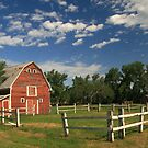 Old Red Barn by fortner