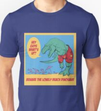 Lonely Beach Dinosaur Unisex T-Shirt