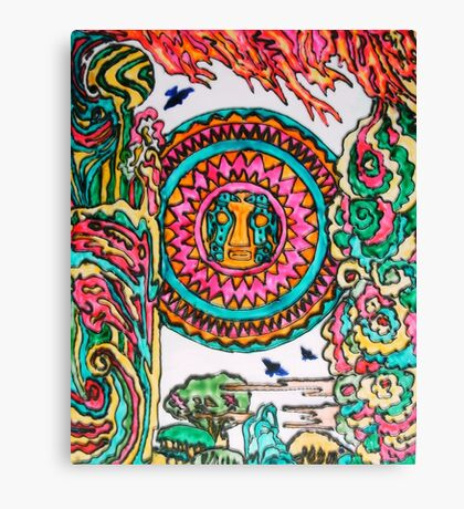 Viracocha and the Elements Canvas Print